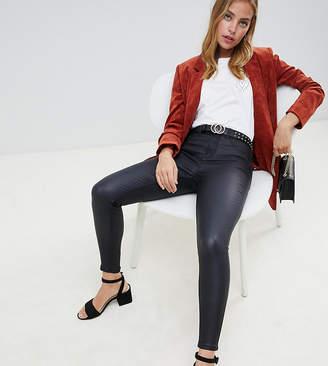 New Look Petite Coated Disco Skinny Jean