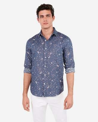a34e50c9dccf Express Slim Floral Linen-Blend Shirt