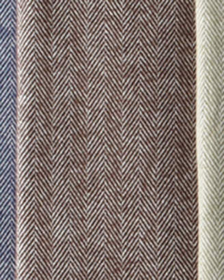 Sferra Brushed Cotton Herringbone-Weave Throw