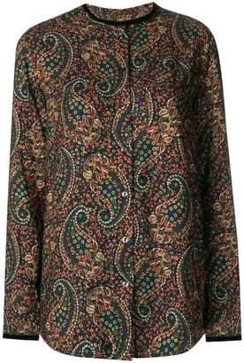 A.P.C. paisley print mandarin collar shirt