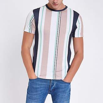 River Island Pink vertical stripe T-shirt