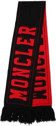 Moncler Logo Wool Jacquard Scarf