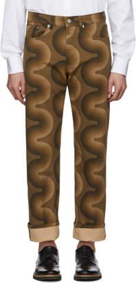 Dries Van Noten Brown Verner Panton Edition Pathard Jeans