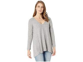 Nally & Millie Rounded Vneck Tunic with Shirred Back