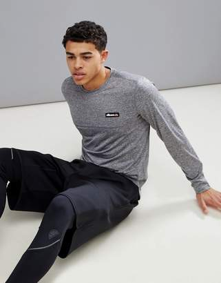 Ellesse Sport Long Sleeve T-Shirt With Mesh Panels In Gray