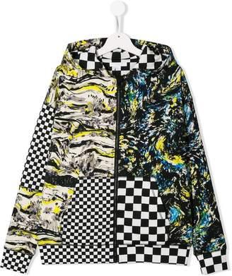 Burberry TEEN mixed print hoodie