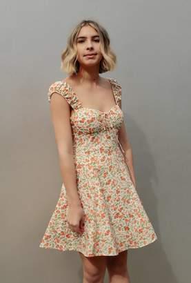 Azalea Floral Sweetheart Dress