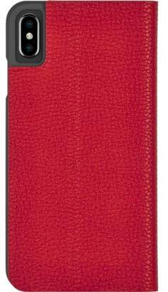 Barely There Case-Mate iPhone Xs Max Folio Cardinal Case