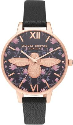 Olivia Burton Meant to Bee Leather Strap Watch, 34mm