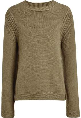 Burberry link-stitch fitted sweater