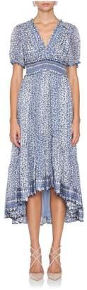 Ulla Johnson Evania Floral Short Sleeve Dress