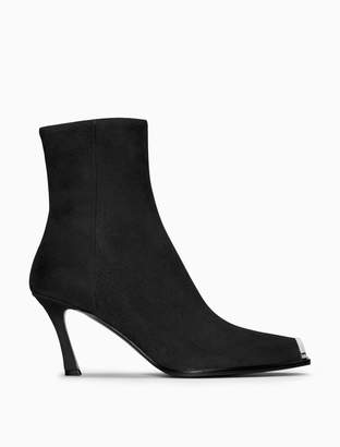 Calvin Klein high-heeled boot in suede with 205W39NYC silver toe plate