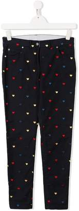 Stella McCartney TEEN embroidered tapered chinos