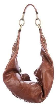 Diane von Furstenberg Studded Leather Hobo