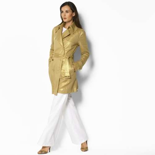 Ralph Lauren Valina Swing Trench Coat