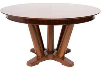 Mitchell Gold + Bob Williams Mahogany Pedestal Dining Table