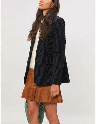 Frame Striped velvet blazer