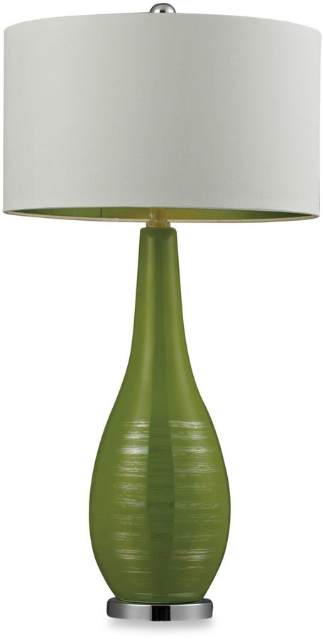 Bed Bath & Beyond Lime Green with Silver Accents Table Lamp with White Shade