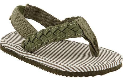 Old Navy Braided-Canvas Flip-Flops for Baby