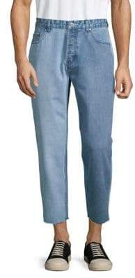 Barney Cools Frayed-Cuff Relaxed-Fit Jeans