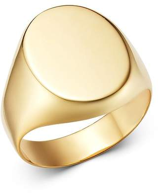Bloomingdale's 14K Yellow Gold Oval Signet Ring - 100% Exclusive