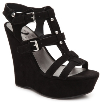G by GUESS Hippo Wedge Sandal $69 thestylecure.com