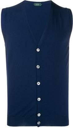 Zanone knitted vest