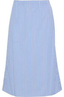 Marni Striped Cotton-Poplin Skirt