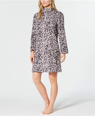 Miss Elaine Printed Fleece Zip Robe
