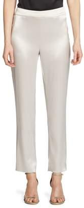 St. John Cropped Satin Pants