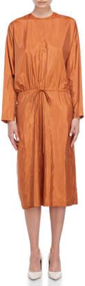 Jil Sander Oversized Drawstring Midi Dress