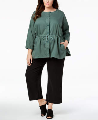 Eileen Fisher Plus Size Organic Cotton Jacket
