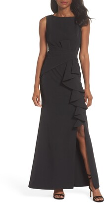 Eliza J Ruffle Front Gown