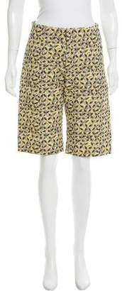 Marni Leaf Print Knee-Length Shorts