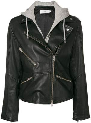 Closed off-centre zipped jacket