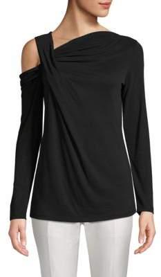 Cold-Shoulder Drape Top