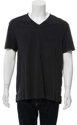 Acne Studios Short Sleeve V-Neck T-Shirt