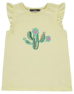 George Yellow Sequin Cactus T-Shirt