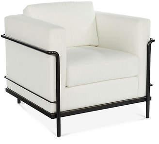 Charleston Club Chair - White Crypton - Miles Talbott