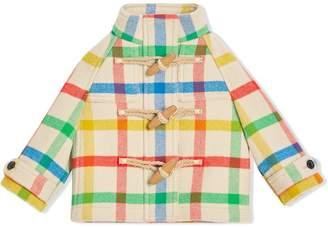 Burberry Check Wool Twill Duffle Coat
