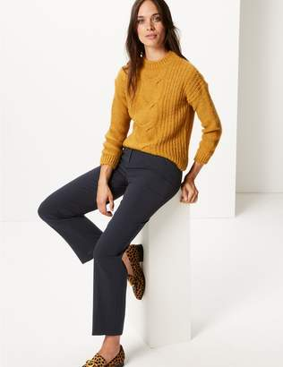 Marks and Spencer Zipped Pocket Straight Leg Trousers