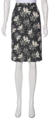 L'Agence Print Pencil Skirt