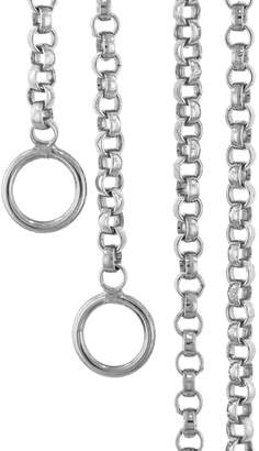 Marla Aaron Rolo Chain Necklace - White Gold