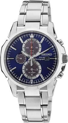 Seiko Men's SSC085 Silver Stainless-Steel Quartz Watch