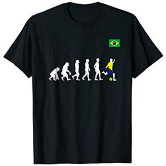 Brazil evolution of man football/soccer tshirt