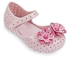 Mini Melissa Baby's, Little Girl's & Girl's Perforated-Flower Mary-Jane Flats