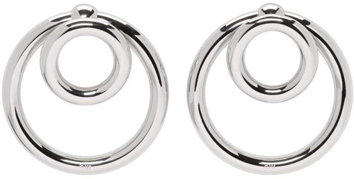 Alexander Wang Silver Double O-Ring Earrings