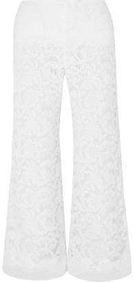 ADAM by Adam Lippes Cropped Corded Lace Wide-leg Pants - White