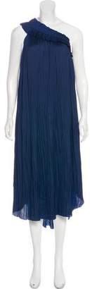 Ulla Johnson Pleated Asymmetrical Dress