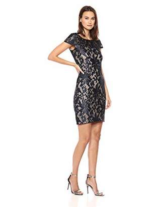 Calvin Klein Women's Cap Sleeve Sequin Sheath Dress